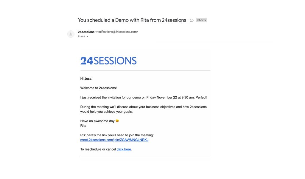 Email customisation - email