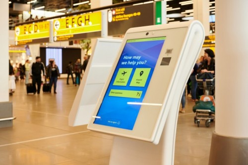 Video calling for passengers of Amsterdam Airport Schiphol