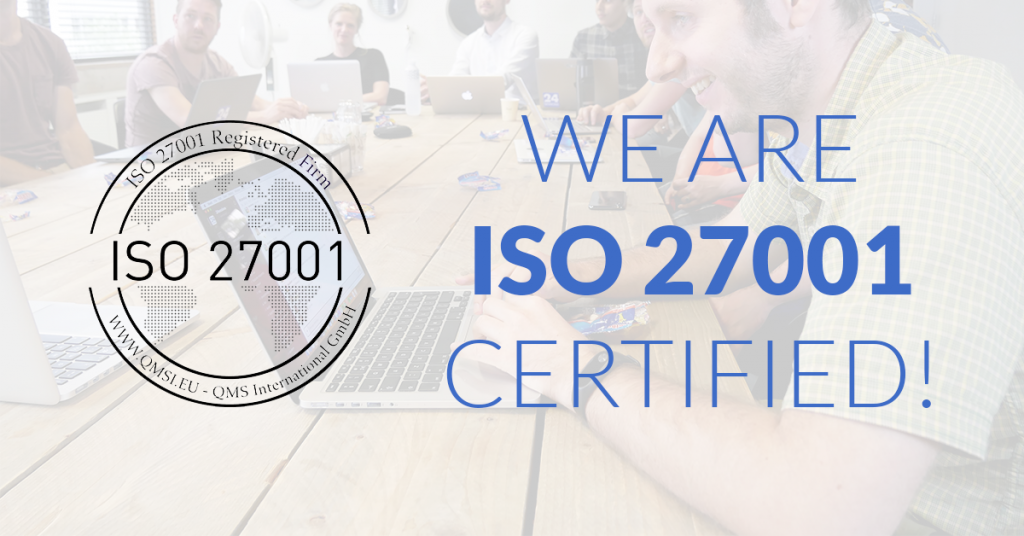 Hurray, we're ISO 27001 certified!